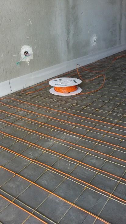 Incalzire in pardoseala - vila / Incalzire cu cablu