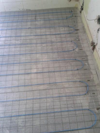 Incalzire apartament debransat gaze - bloc / Incalzire sapa beton