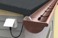 Sisteme de degivrare pentru jgheaburi si burlane Kit-ul pentru degivrare cu termostat inglobat si stecher are protectie la ultraviolete, rezistenta mecanica crescuta si rezistenta la cicluri de temperatura (inghet-dezghet).