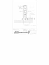 Cofraje termoizolante inglobate - Detaliu fundatie MARC