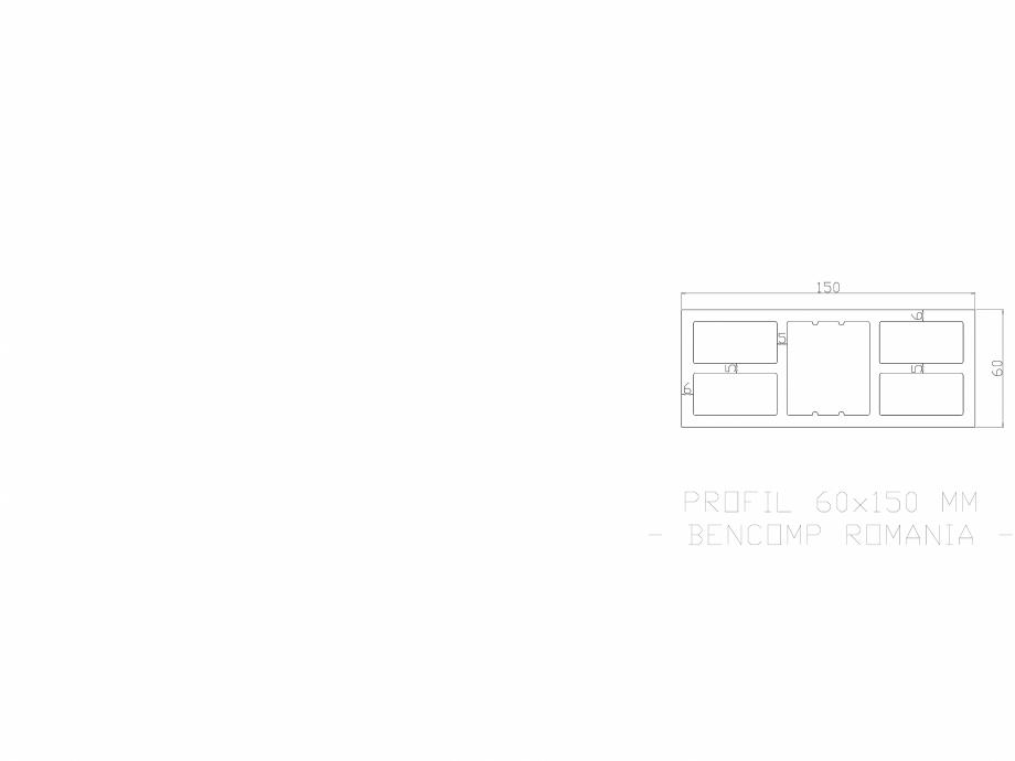 Pagina 1 - CAD-DWG Profil lemn compozit WPC 60x150 mm BENCOMP Detaliu de produs