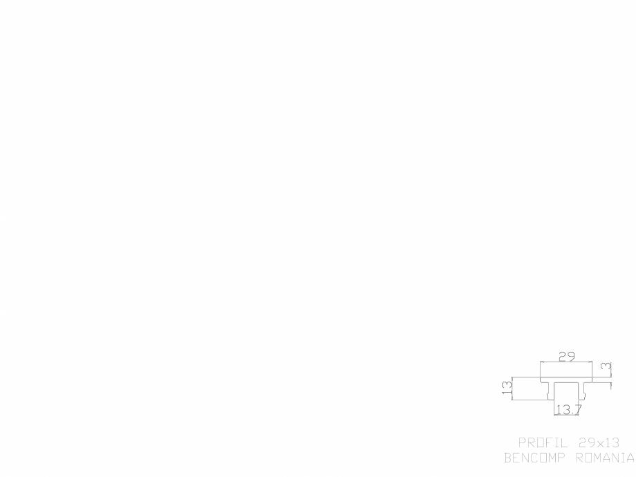 Pagina 1 - CAD-DWG Profil lemn compozit WPC 29x13 mm BENCOMP Detaliu de produs