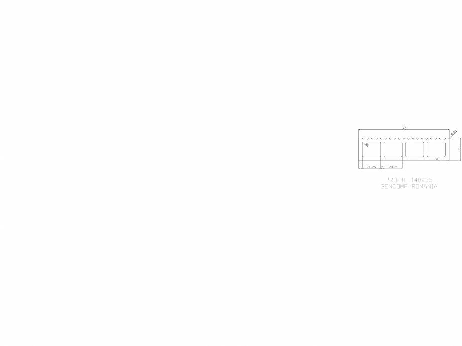 Pagina 1 - CAD-DWG Profil lemn compozit WPC 140x35 mm BENCOMP Detaliu de produs