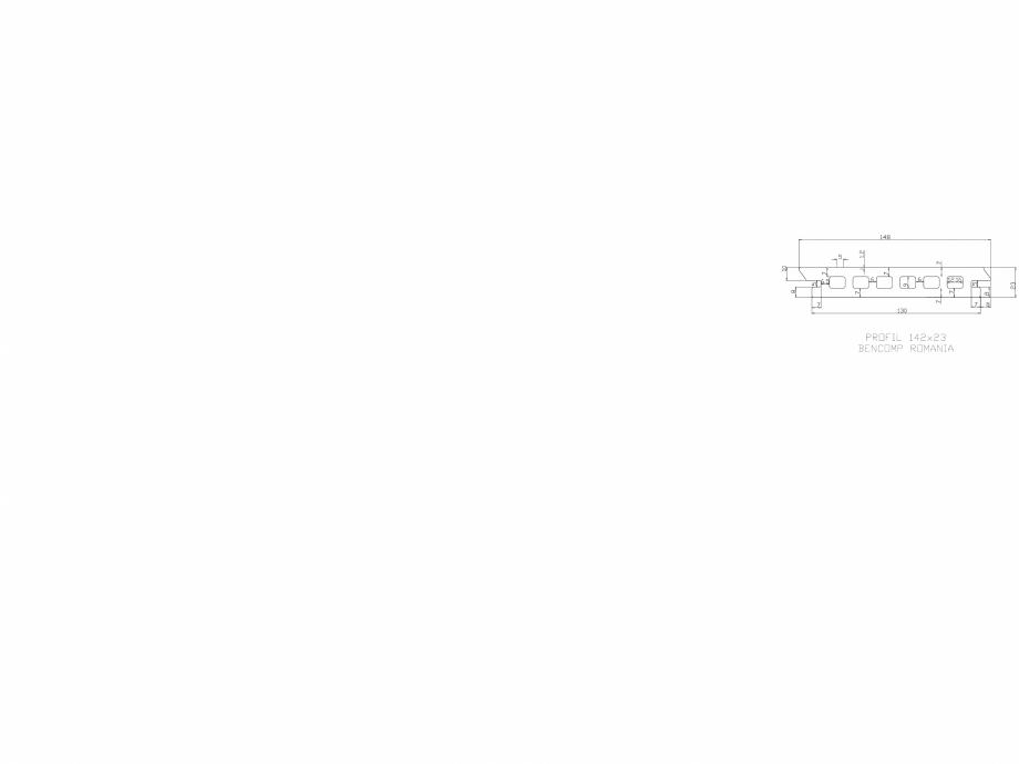 Pagina 1 - CAD-DWG Profil lemn compozit WPC  142x23 mm BENCOMP Detaliu de produs