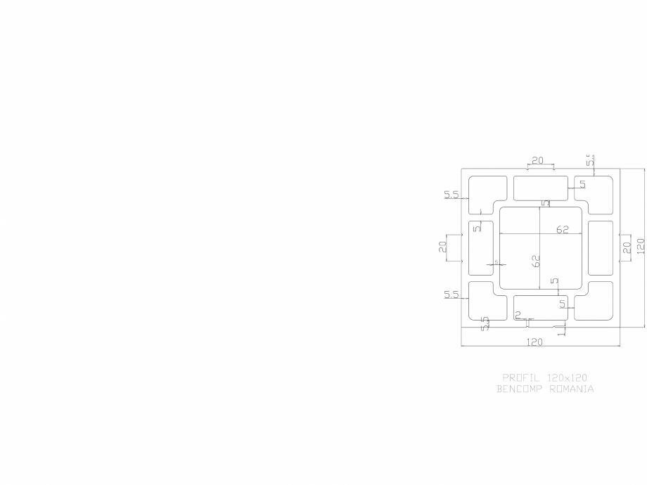 Profil lemn compozit WPC 120x120 mm BENCOMP Amenajari tip decking pentru piscine, terase si gradini din lemn compozit WPC BENCOMP  - Pagina 1