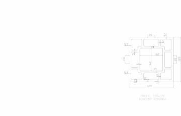 Profil lemn compozit WPC 120x120 mm