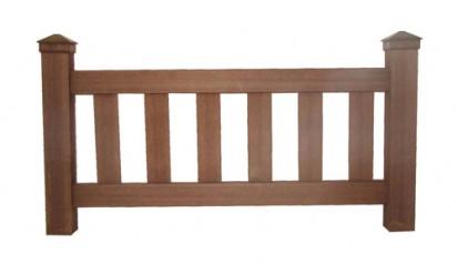 Gard din lemn WPC din WPC Gard lemn plastifiat