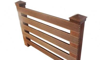 Gard lemn plastifiat din WPC Gard lemn plastifiat