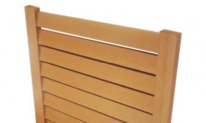 Gard din lemn plastifiat WPC din WPC Gard lemn plastifiat
