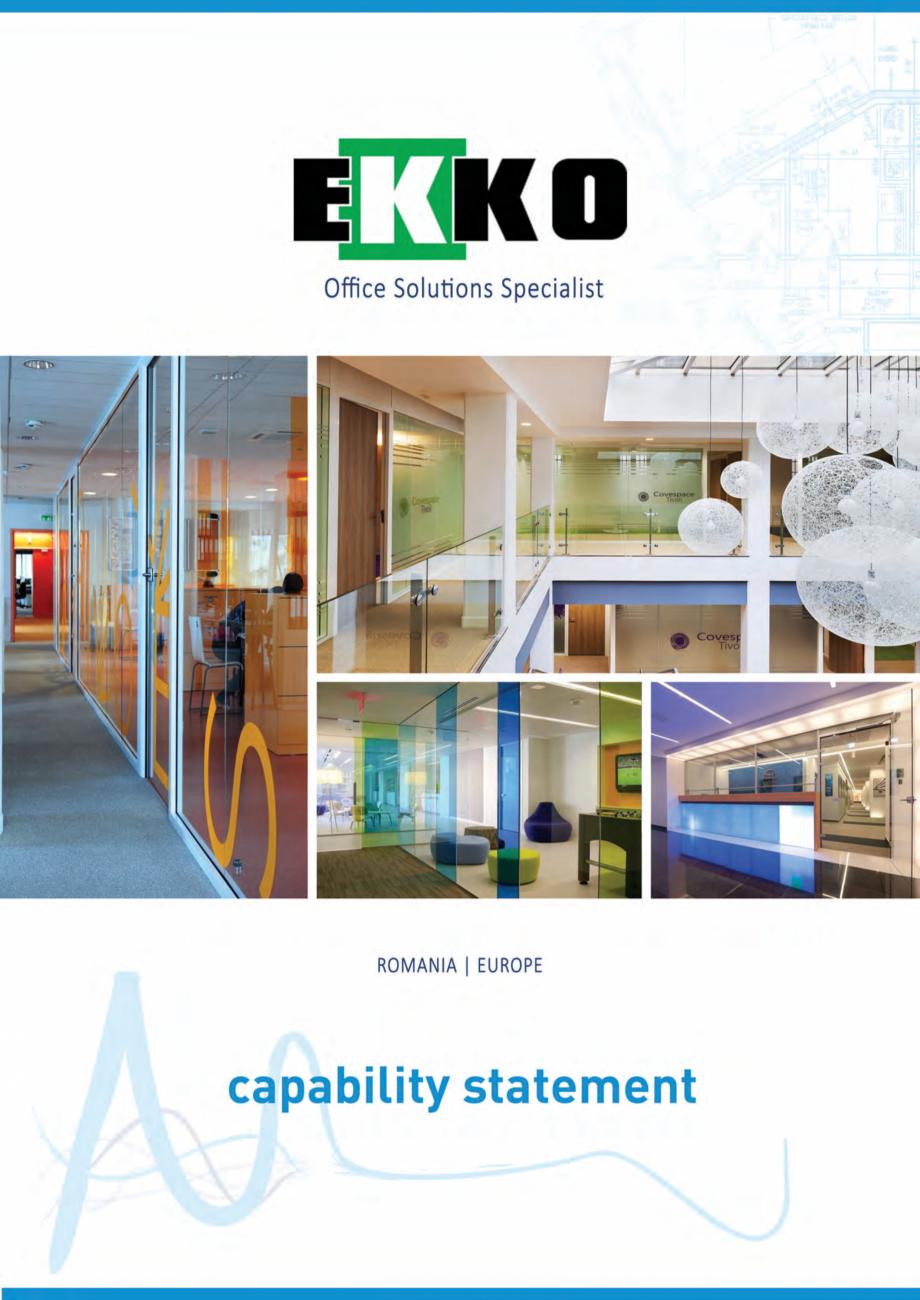 Pagina 1 - EKKO Capability Statement  Catalog, brosura Engleza UNDERSTANDING THE 'WHY' AND 'WHO'  ...
