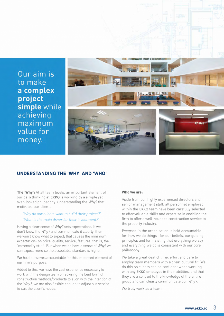 Pagina 3 - EKKO Capability Statement  Catalog, brosura Engleza ted to their business needs. We...
