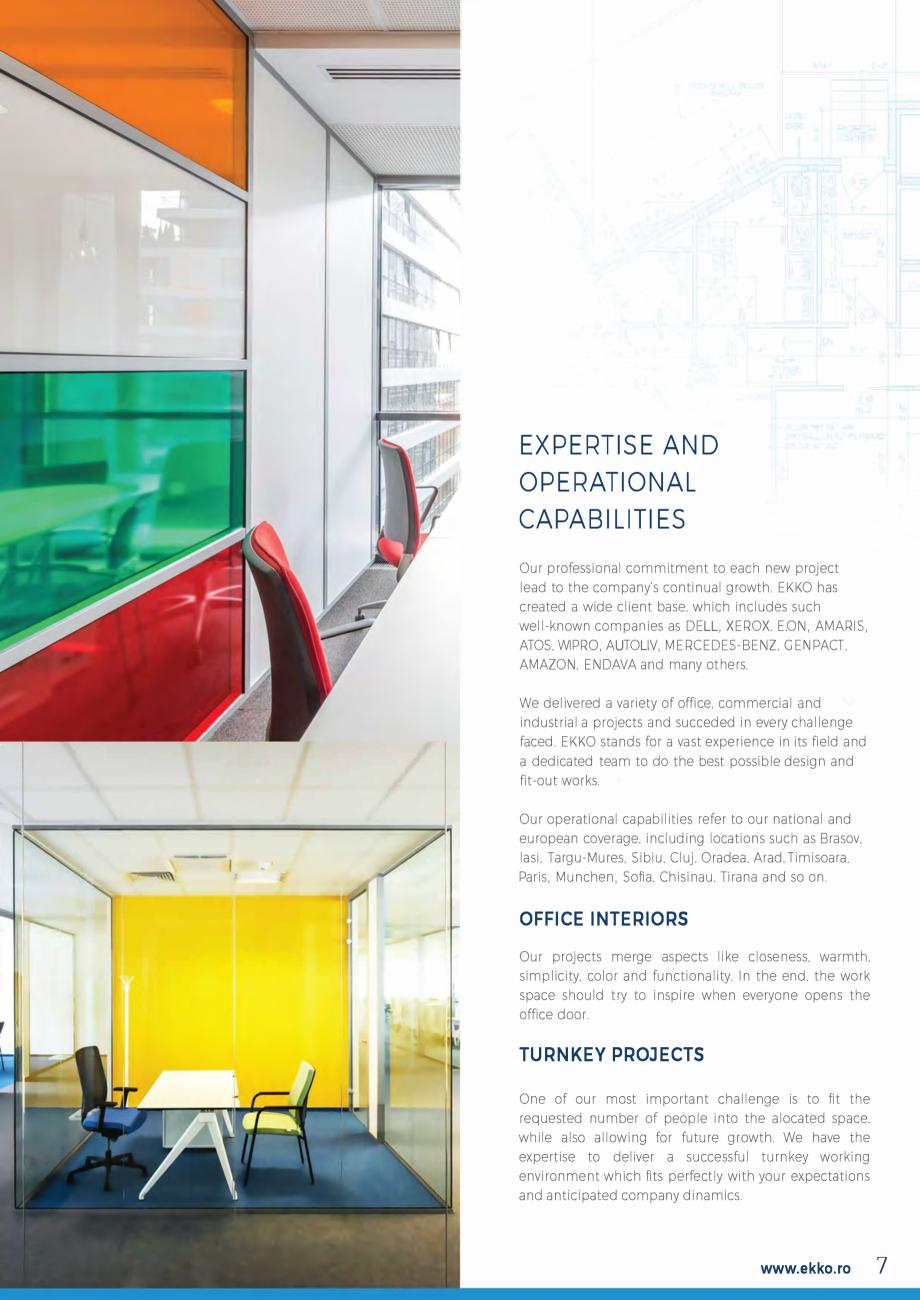 Pagina 7 - EKKO Capability Statement  Catalog, brosura Engleza Building D. 4th Floor. Bucharest 2....