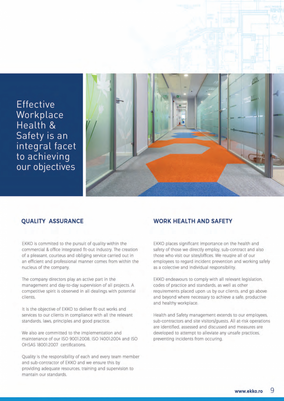 Pagina 9 - EKKO Capability Statement  Catalog, brosura Engleza
