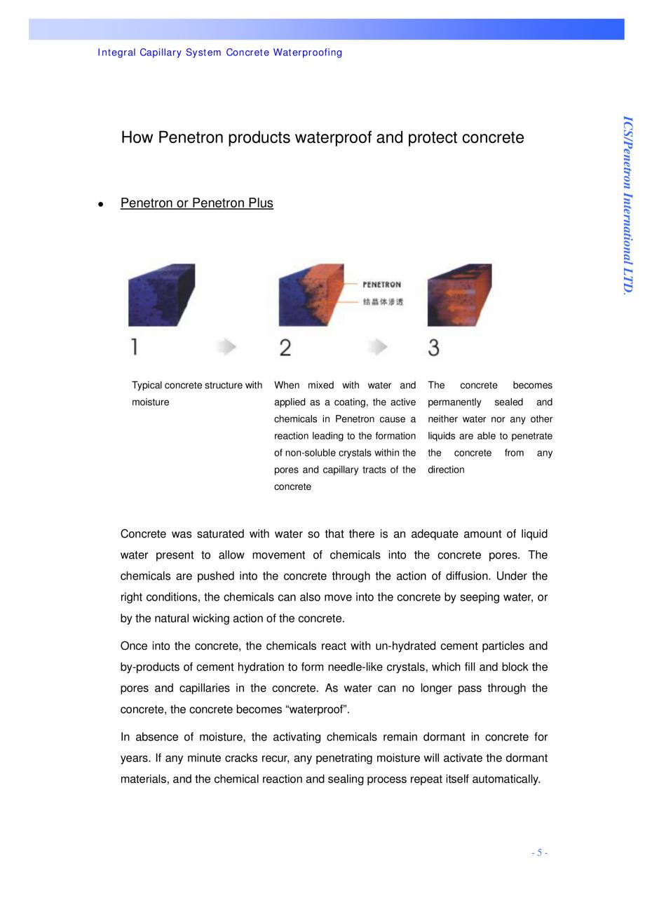 Pagina 5 - Proiectul hidroelectric Bakun PENETRON PENETRON, PENETRON ADMIX, PENETRON PLUS Lucrari,...