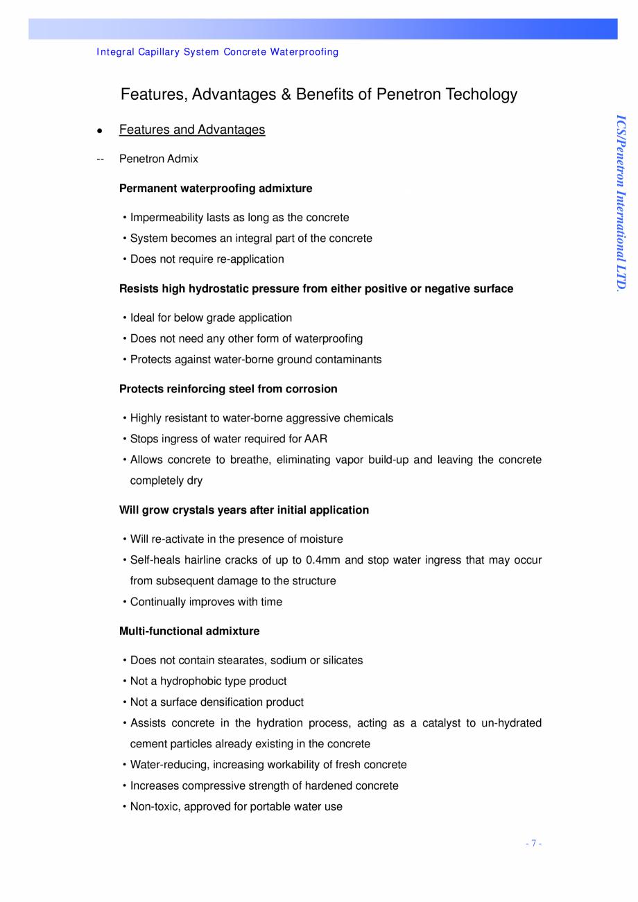 Pagina 7 - Proiectul hidroelectric Bakun PENETRON PENETRON, PENETRON ADMIX, PENETRON PLUS Lucrari,...