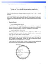 Tipuri de tunele si metode de constructie PENETRON