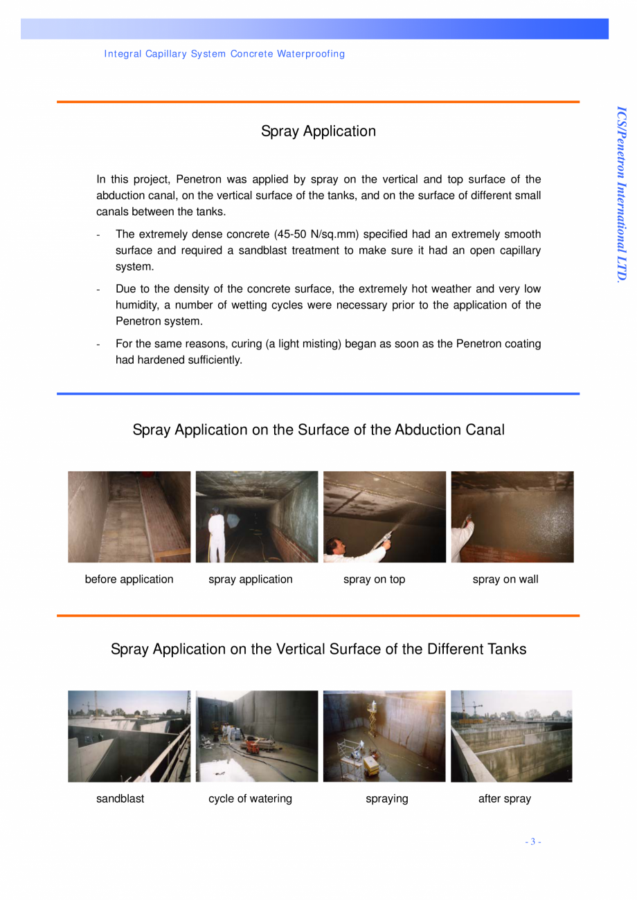 Pagina 3 - Statie de epurare a apei - Milano, Italia PENETRON PENECRETE MORTAR, PENETRON Lucrari,...