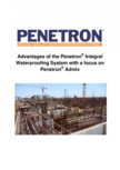 Avantajele sistemului de impermeabilizare integrala  a betonului Penetron PENETRON - PENETRON ADMIX, PENETRON, PENETRON PLUS