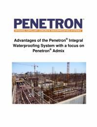 Avantajele sistemului de impermeabilizare integrala  a betonului Penetron