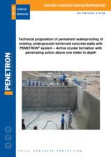 Impermeabilizarea peretilor subterani din beton armat PENETRON