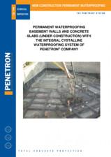 Impermeabilzarea peretilor de subsol si a placilor din beton PENETRON