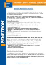 Pregatirea Sistemului Admix pentru hidroizolarea si protejarea betonului PENETRON