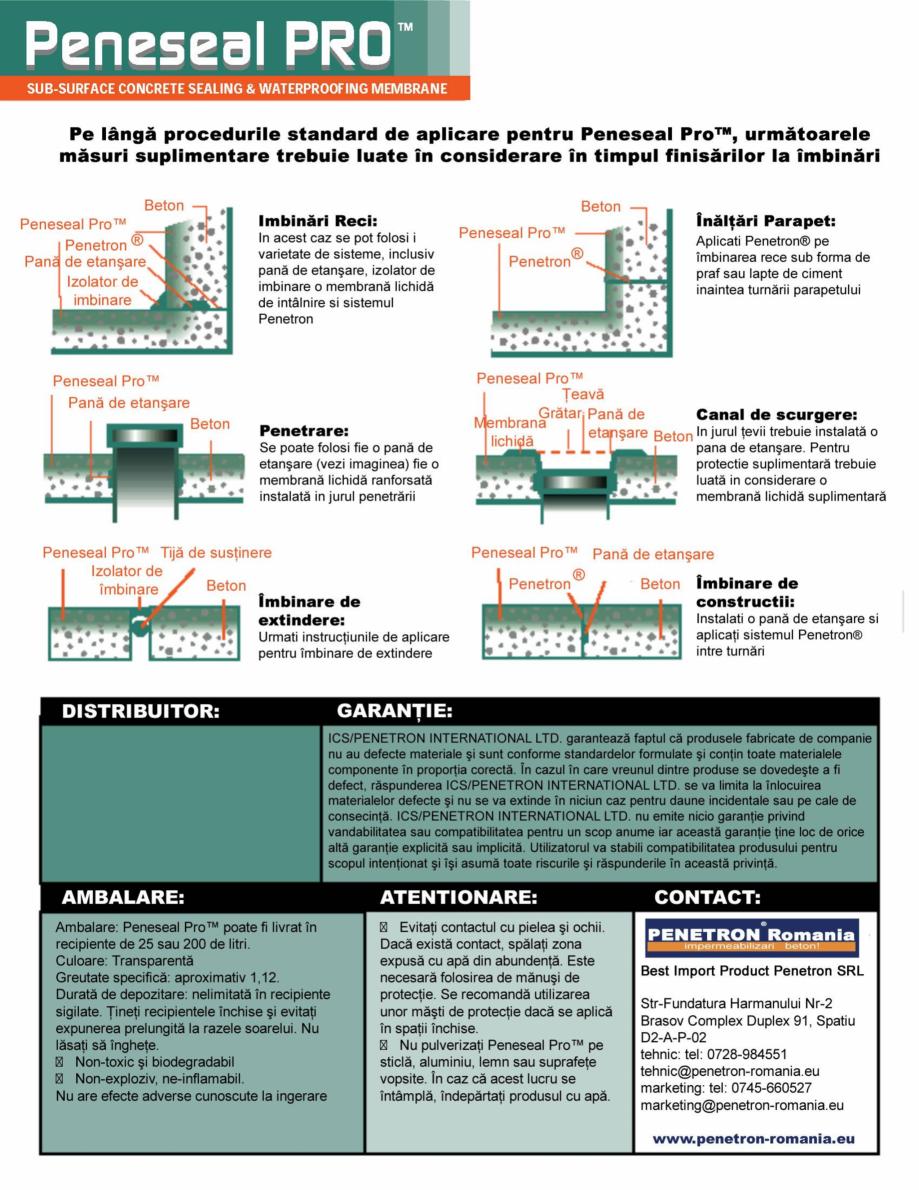 Pagina 4 - Tratament hidroizolant autoreparator pentru suprafete expuse din beton PENETRON PENESEAL ...