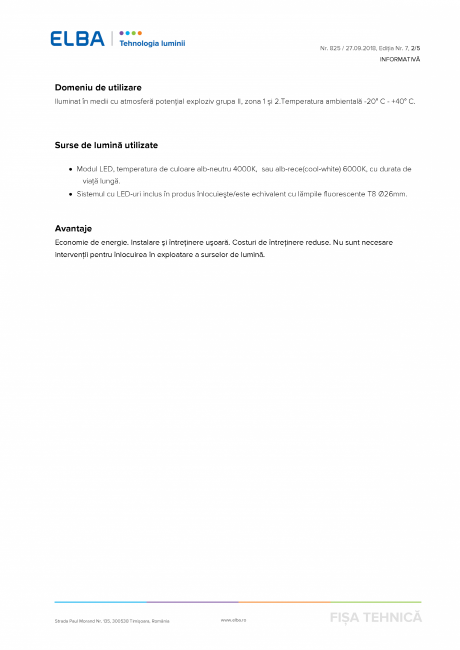 Pagina 2 - Corp de iluminat antiexploziv ELBA-COM CSFM 03 Fisa tehnica Romana  reduse. Nu sunt...