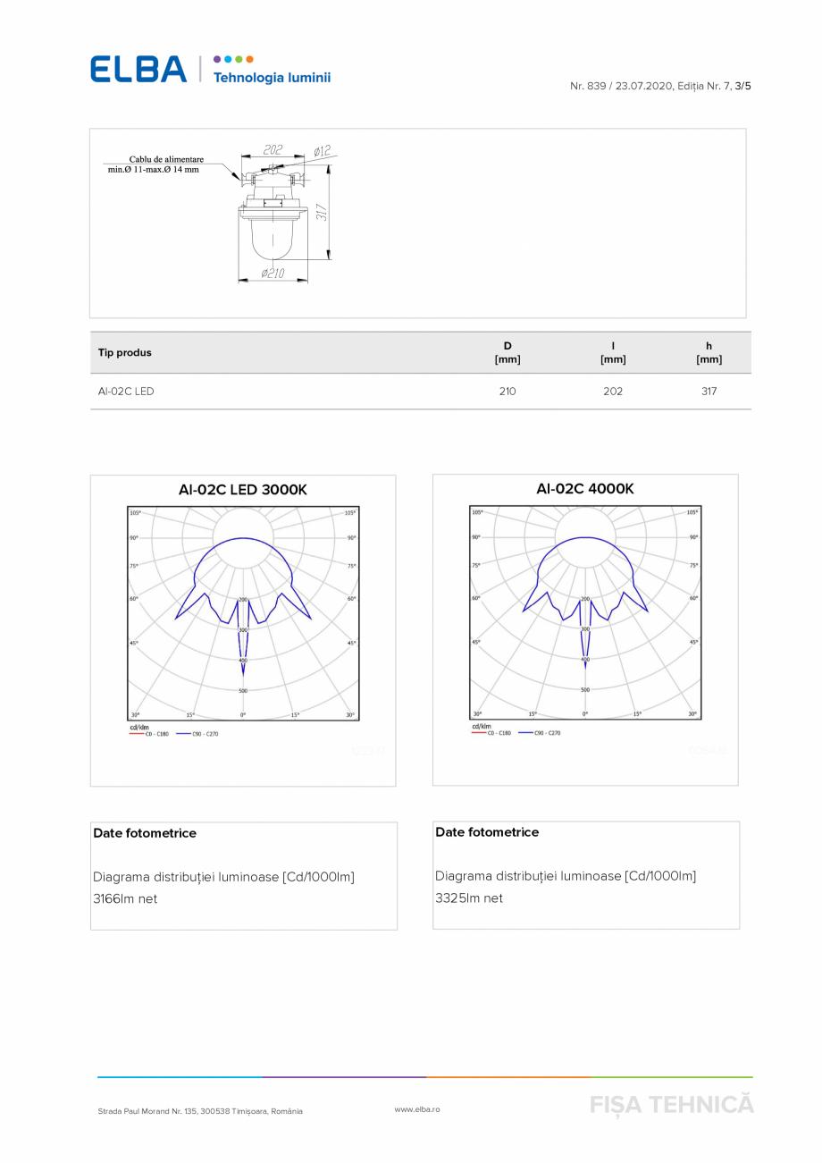 Pagina 3 - Corp antiexploziv pentru iluminat ELBA-COM AI 02 C Fisa tehnica Romana -1, SR EN 60079-0:...