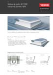 Sistem de soclu JET TRP,compozit aluminiu-GFK VELUX Commercial - Otel - aluminiu cu flansa TRP