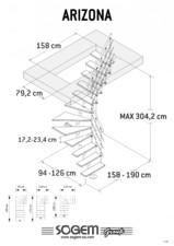 Scara pe structura metalica SOGEM