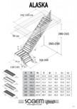Scara pe structura metalica - turnanta SOGEM - Alaska