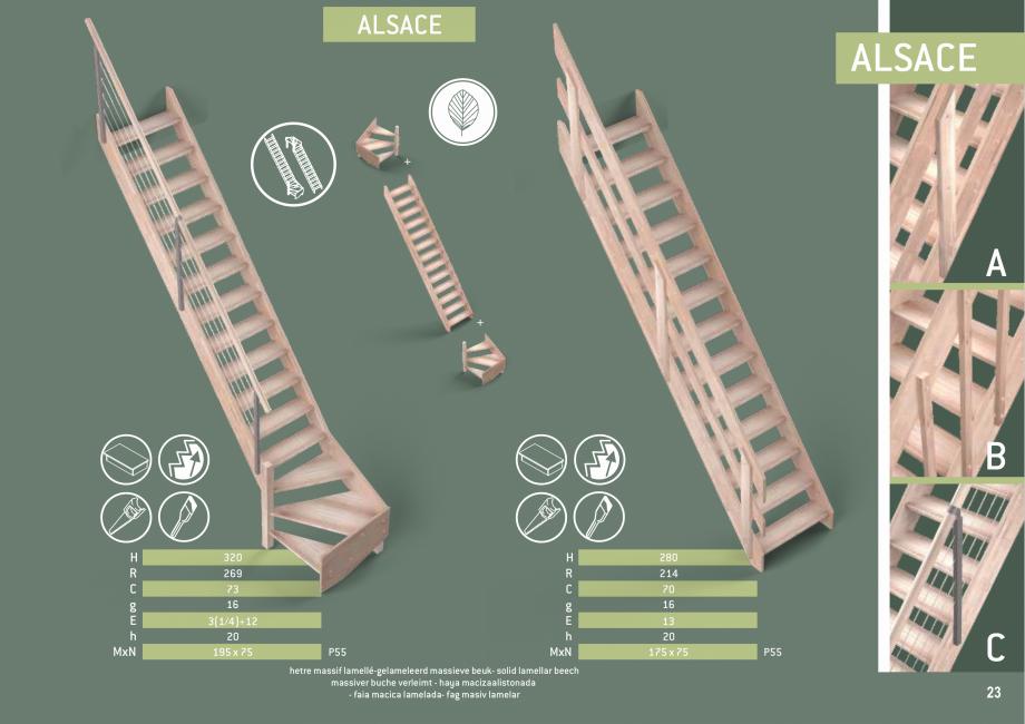 Pagina 24 - Scari in kit din lemn si din metal SOGEM Alaska, Alpha, Arizona, Atlantis, Delta,...