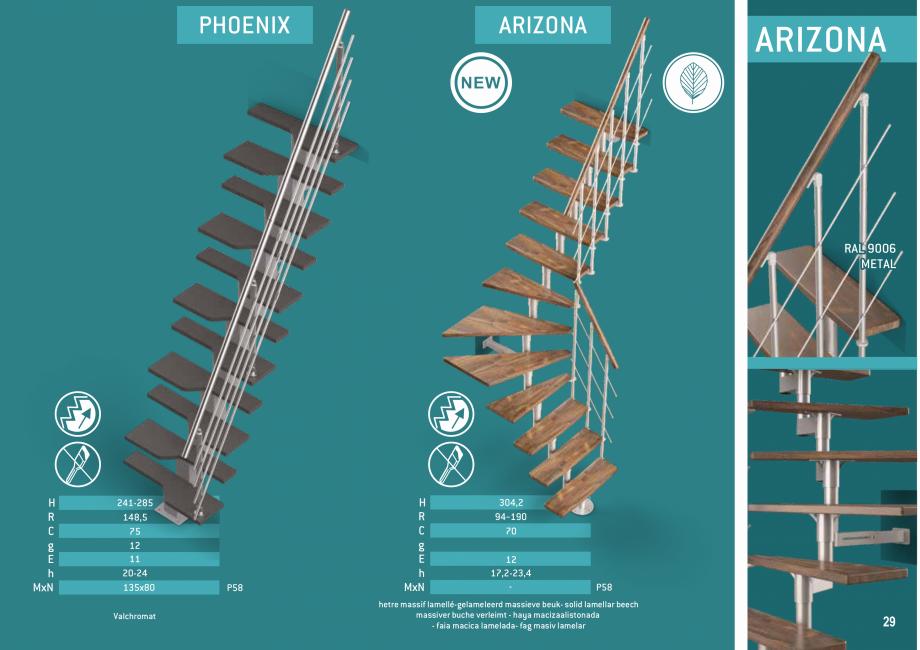 Pagina 30 - Scari in kit din lemn si din metal SOGEM Alaska, Alpha, Arizona, Atlantis, Delta,...