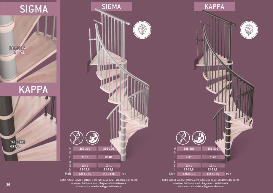 Pagina 37 - Scari in kit din lemn si din metal SOGEM Alaska, Alpha, Arizona, Atlantis, Delta,...