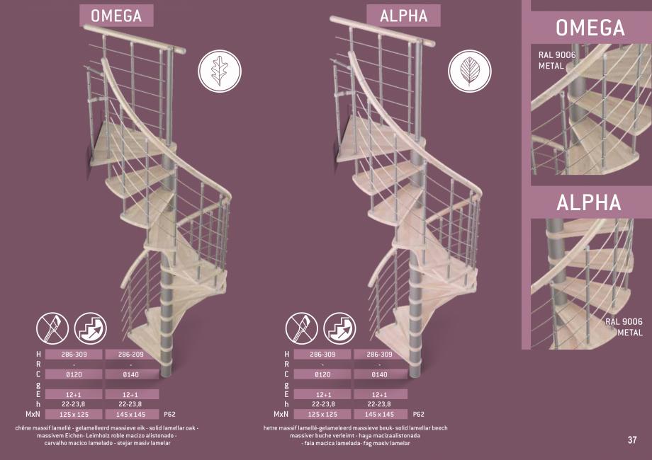 Pagina 38 - Scari in kit din lemn si din metal SOGEM Alaska, Alpha, Arizona, Atlantis, Delta,...