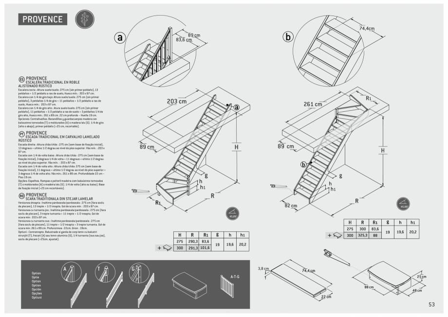 Pagina 54 - Scari in kit din lemn si din metal SOGEM Alaska, Alpha, Arizona, Atlantis, Delta,...