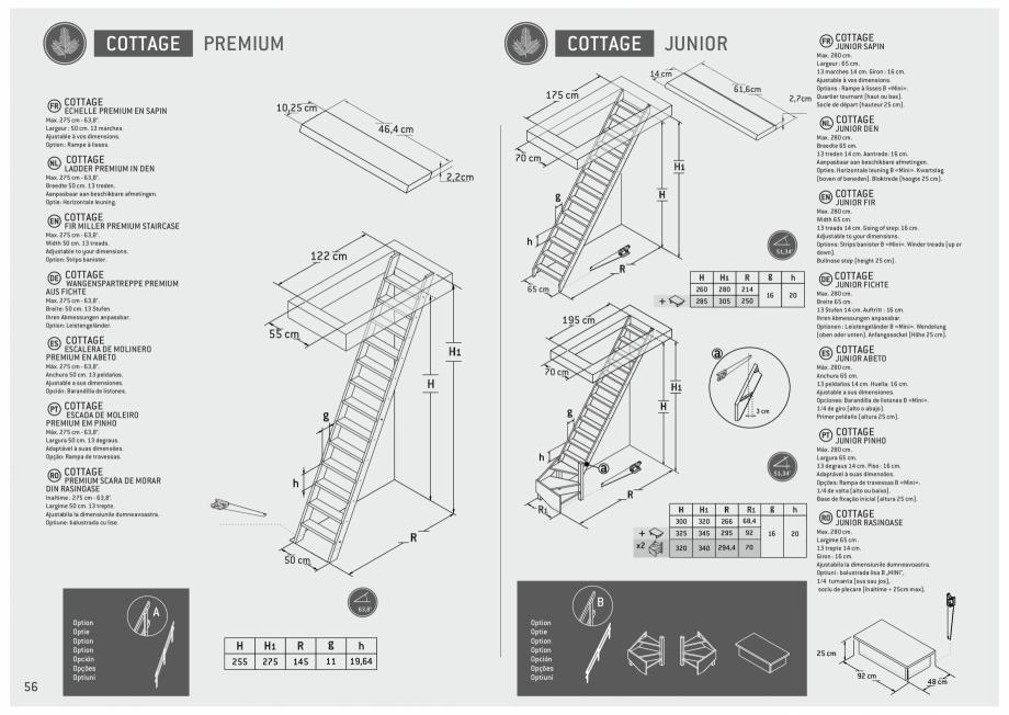 Pagina 57 - Scari in kit din lemn si din metal SOGEM Alaska, Alpha, Arizona, Atlantis, Delta,...