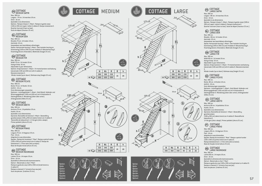 Pagina 58 - Scari in kit din lemn si din metal SOGEM Alaska, Alpha, Arizona, Atlantis, Delta,...