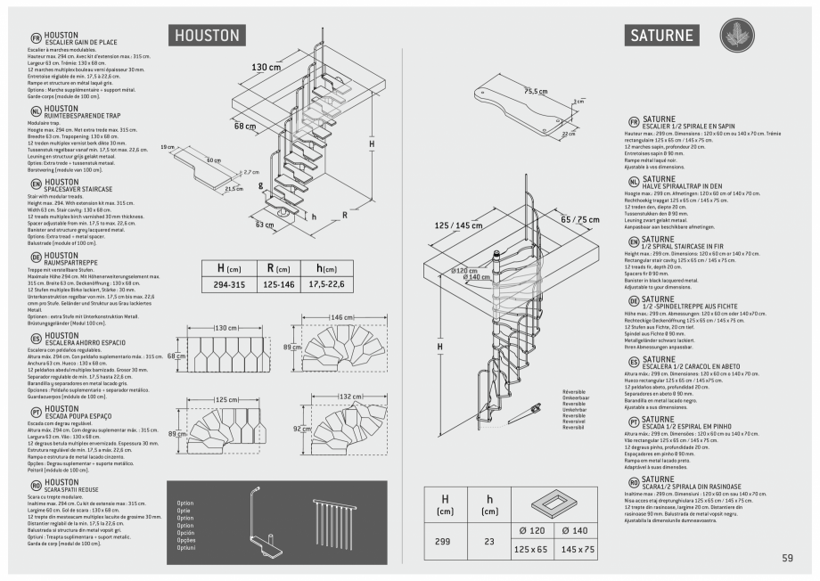 Pagina 60 - Scari in kit din lemn si din metal SOGEM Alaska, Alpha, Arizona, Atlantis, Delta,...