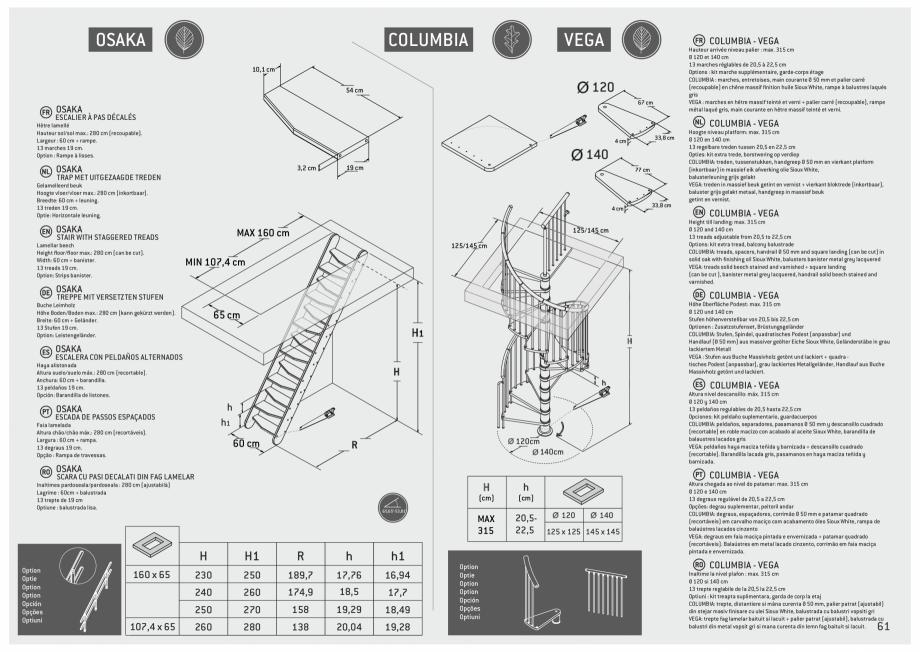 Pagina 62 - Scari in kit din lemn si din metal SOGEM Alaska, Alpha, Arizona, Atlantis, Delta,...