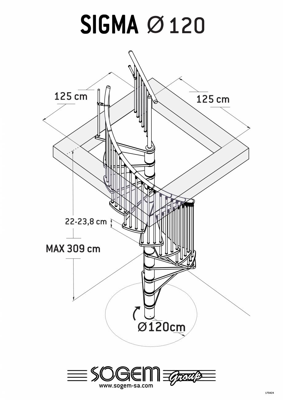 Pagina 1 - Scara pe structura metalica SOGEM Sigma Fisa tehnica Romana