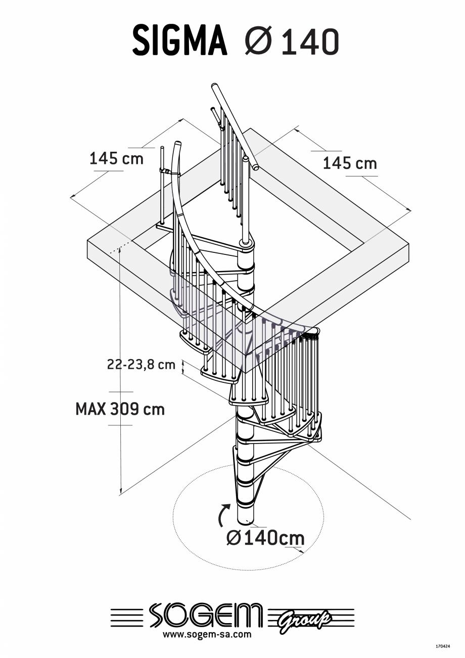 Pagina 2 - Scara pe structura metalica SOGEM Sigma Fisa tehnica Romana