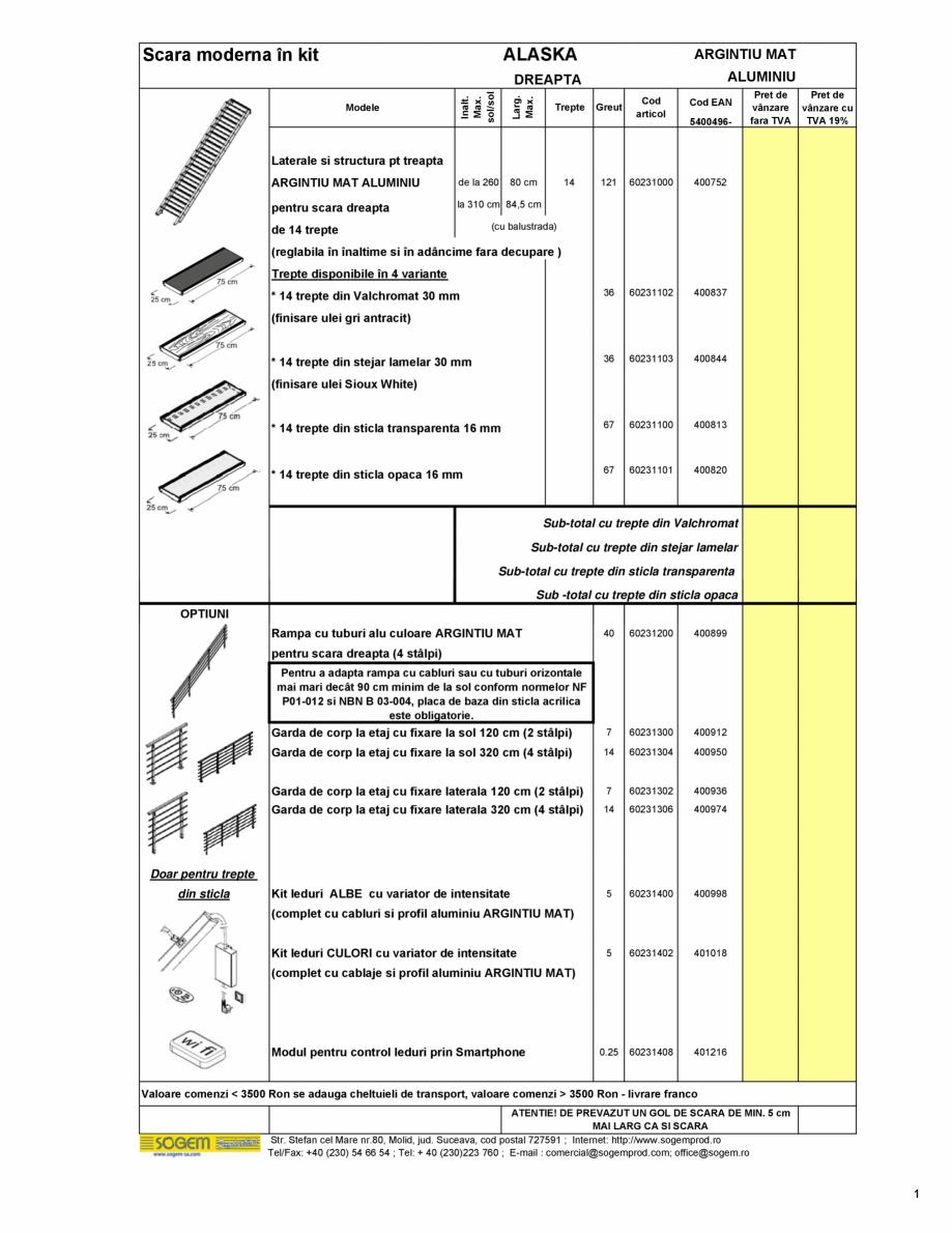 Pagina 2 - Scari moderne pe structura metalica  SOGEM Etna, Atlantis, Eureka, Kronos, Phoenix,...