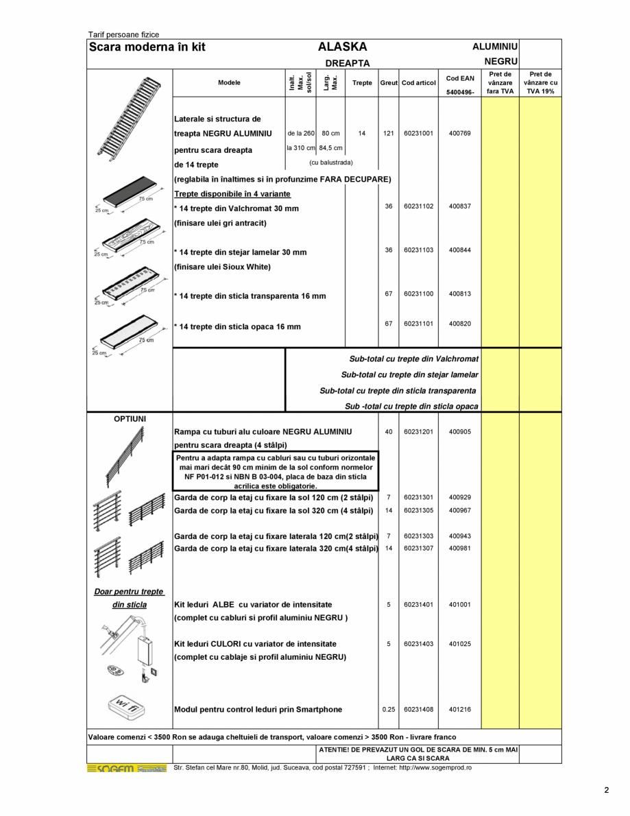 Pagina 3 - Scari moderne pe structura metalica  SOGEM Etna, Atlantis, Eureka, Kronos, Phoenix,...