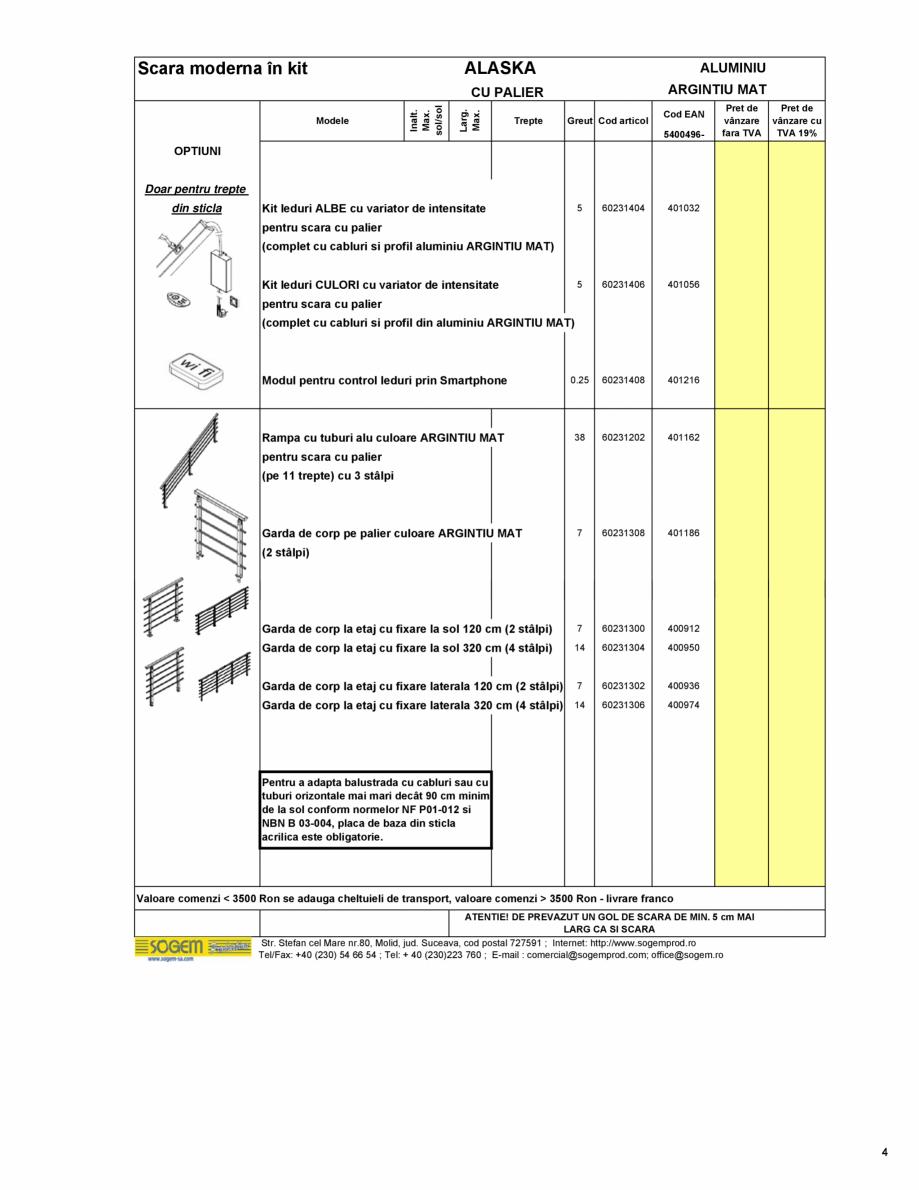 Pagina 5 - Scari moderne pe structura metalica  SOGEM Etna, Atlantis, Eureka, Kronos, Phoenix,...