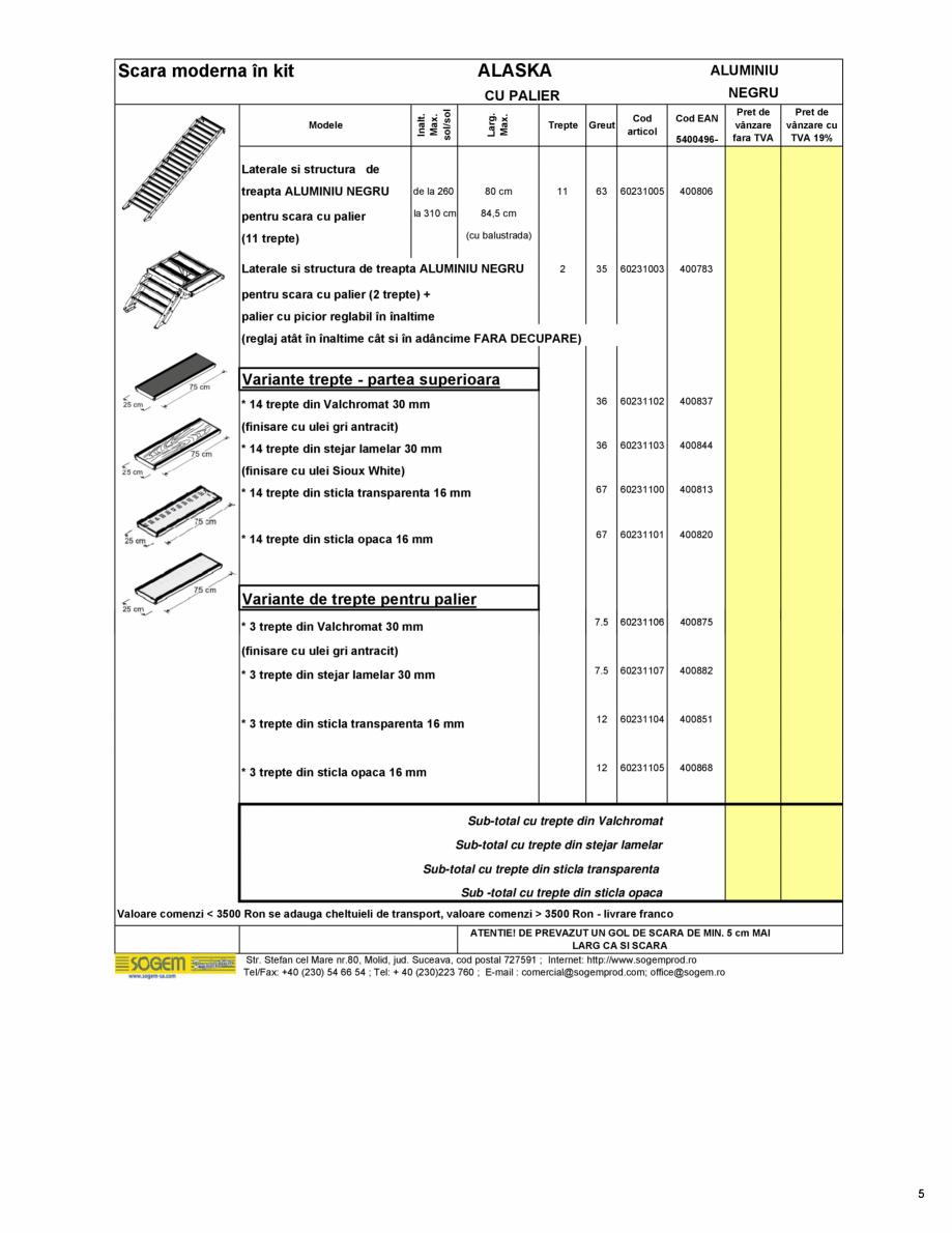 Pagina 6 - Scari moderne pe structura metalica  SOGEM Etna, Atlantis, Eureka, Kronos, Phoenix,...
