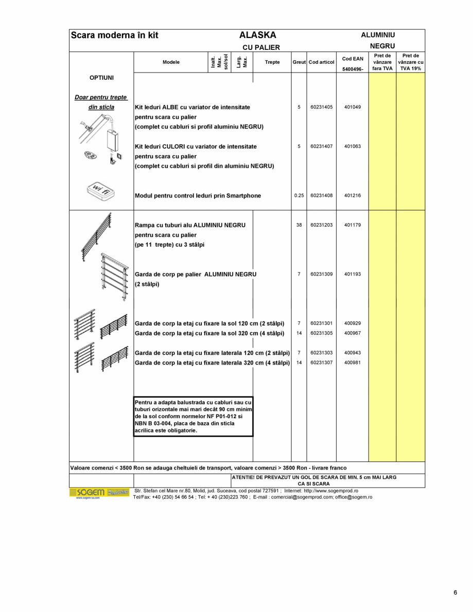 Pagina 7 - Scari moderne pe structura metalica  SOGEM Etna, Atlantis, Eureka, Kronos, Phoenix,...