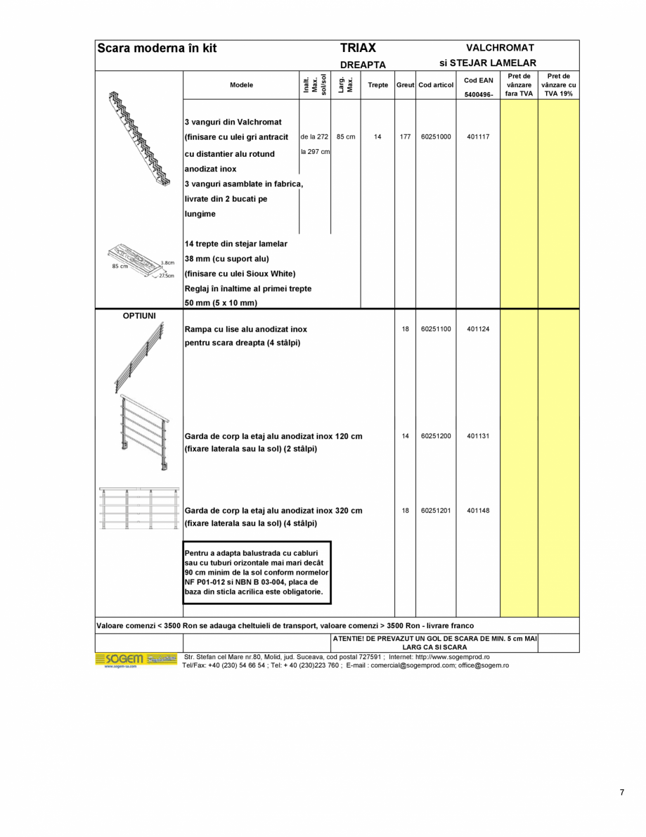 Pagina 8 - Scari moderne pe structura metalica  SOGEM Etna, Atlantis, Eureka, Kronos, Phoenix,...