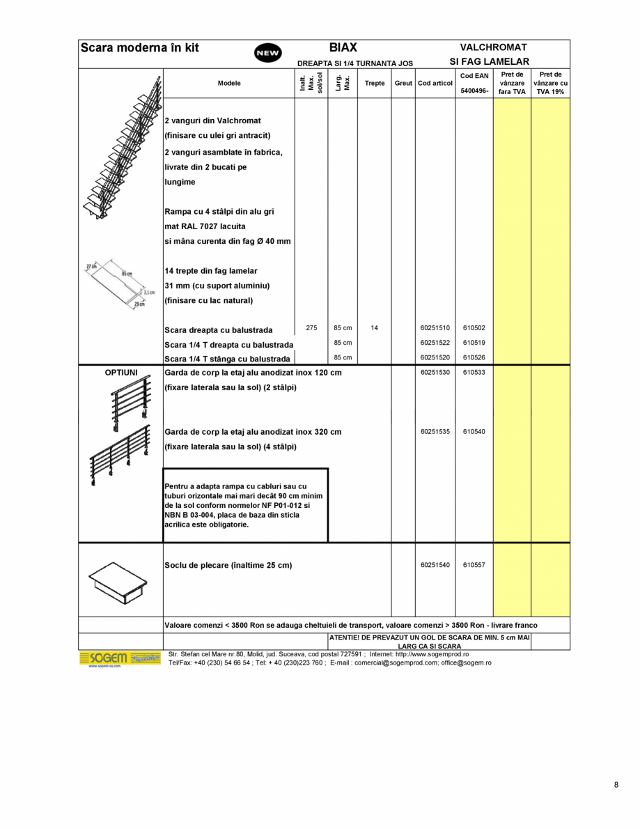 Pagina 9 - Scari moderne pe structura metalica  SOGEM Etna, Atlantis, Eureka, Kronos, Phoenix,...
